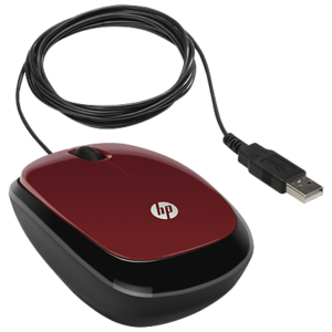 HP X1200 Wired Red Mouse