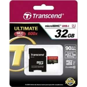 Transcend Micro SDHC 32GB Ultimate + Adapter
